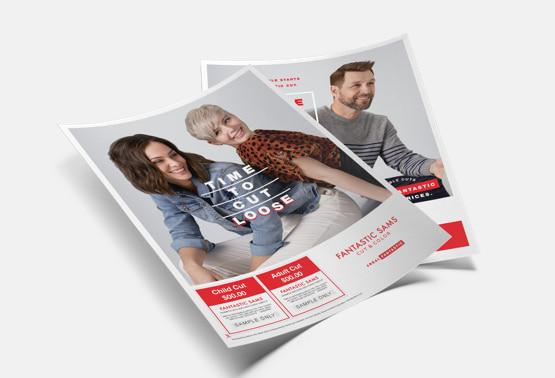 Fantastic Sams Print Design