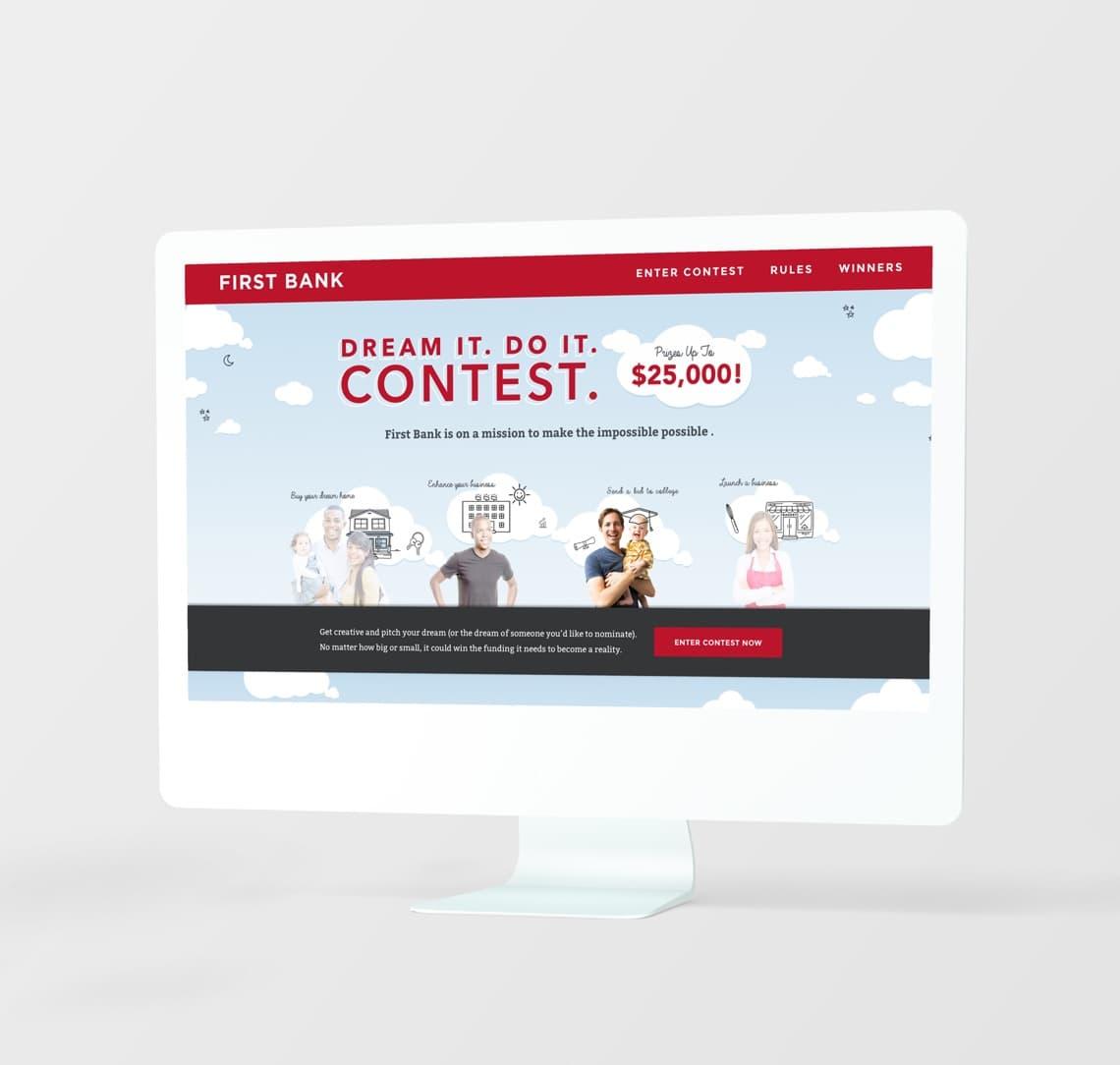 First Bank. Dream It. Do It. Contest It. on desktop