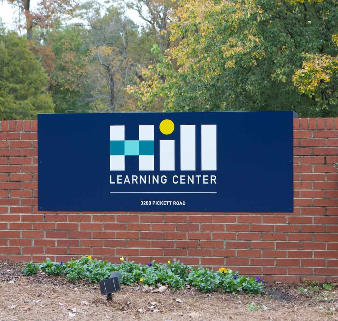 Hill Learning Center building sign