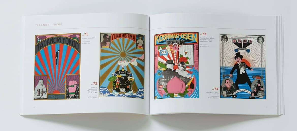 Design book showing Tadanori Yokoo artwork
