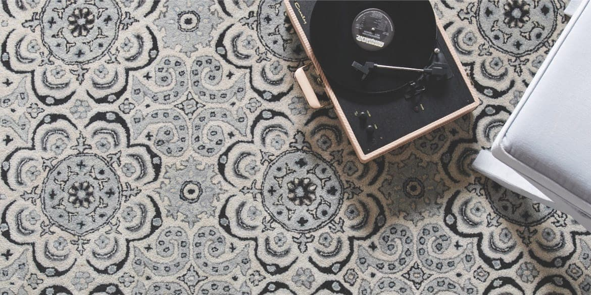 Capel Rugs example with record player