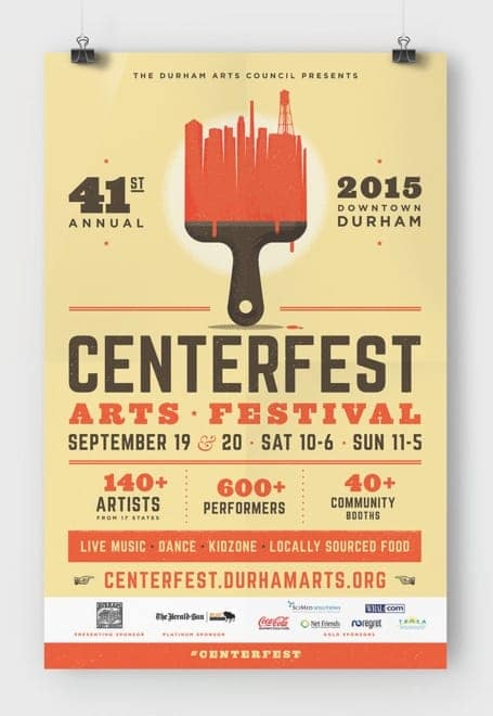 Poster of the 2015 CenterFest Arts Festival