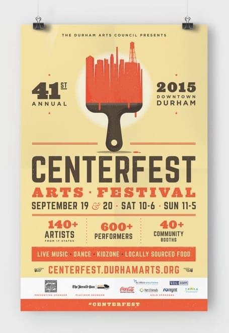 Poster of the 2015 CenterFest Arts Festival