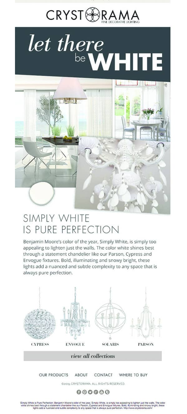 White light products from the Crystorama website
