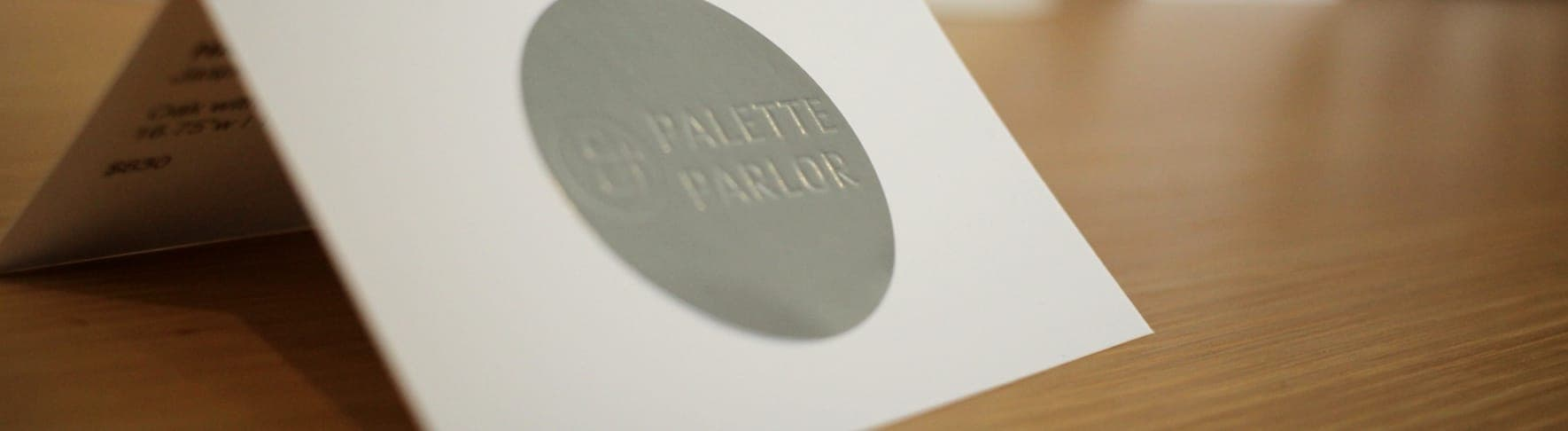 Print design of the Palette & Parlor logos