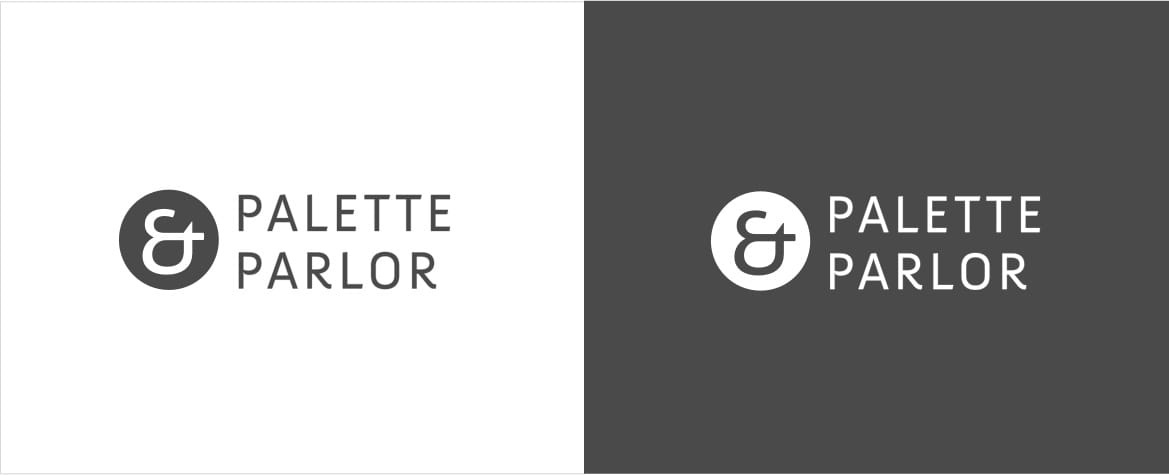 Palette & Parlor logos
