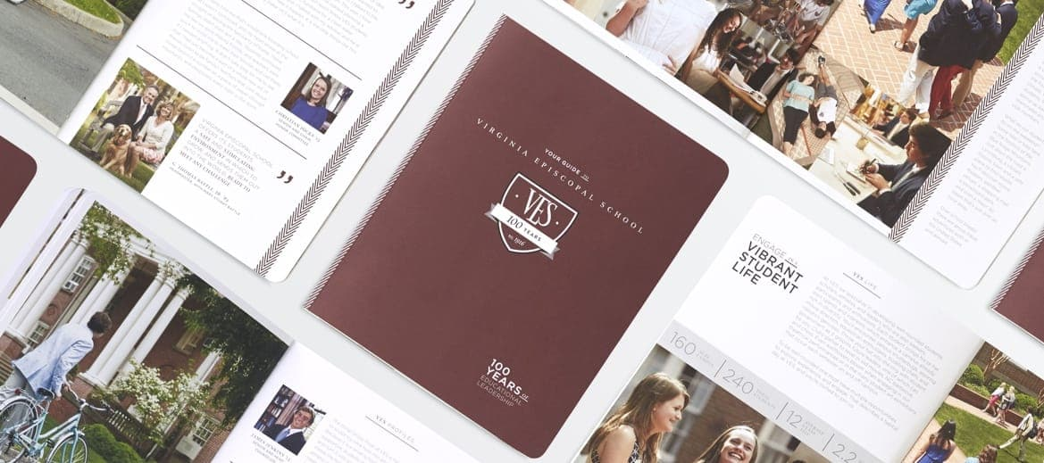 Print designs for the Virginia Episcopal School