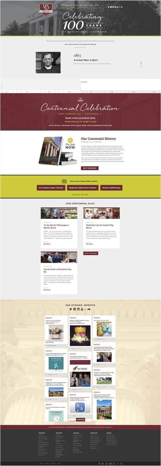 The Virginia Episcopal School website design