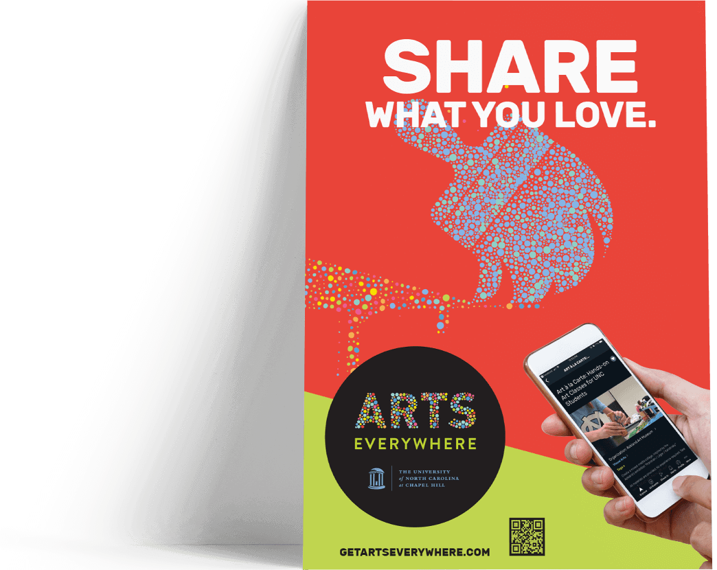 Arts Everywhere Poster Share What You Love