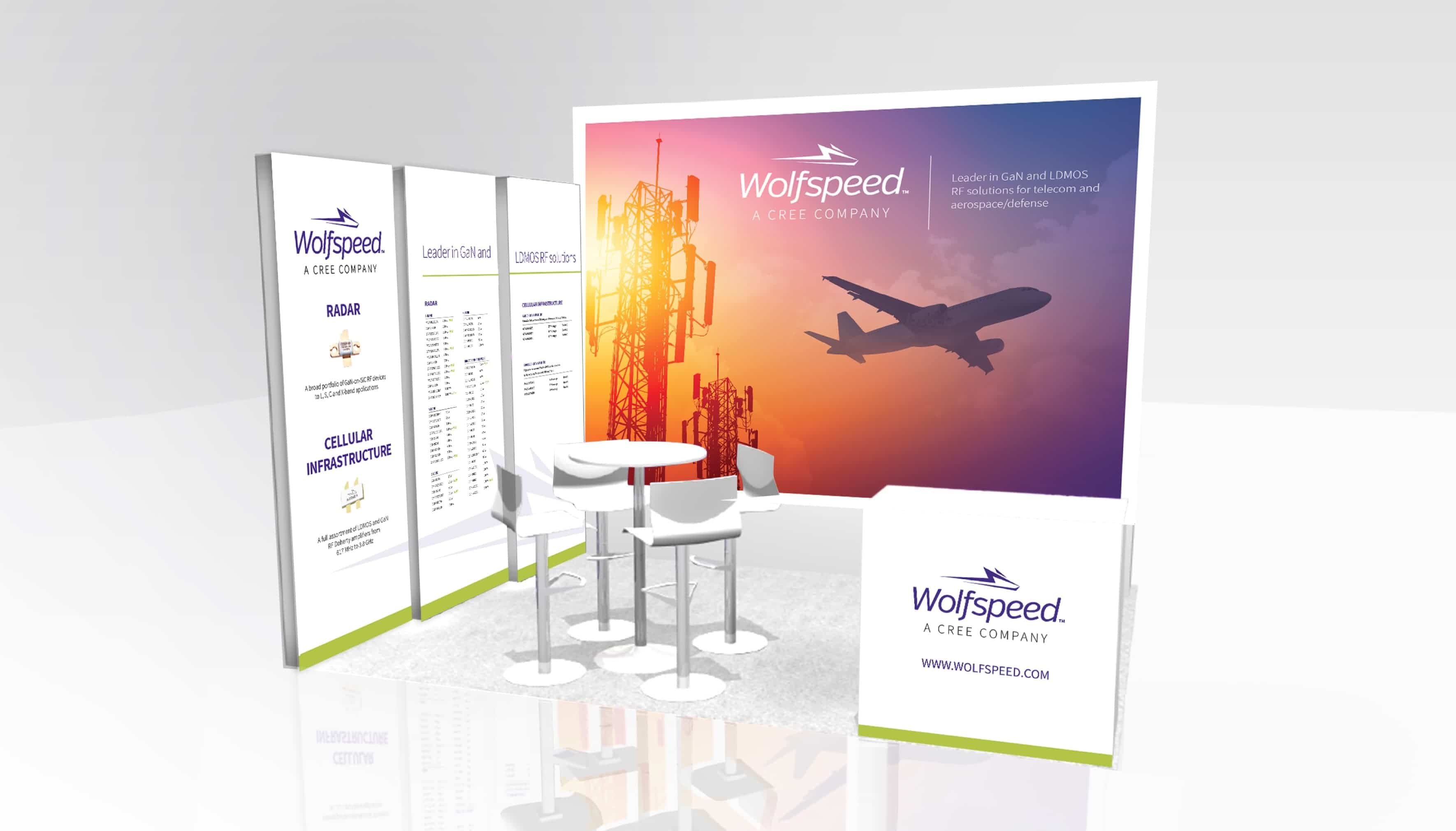 Wolfspeed International Trade Show Displays