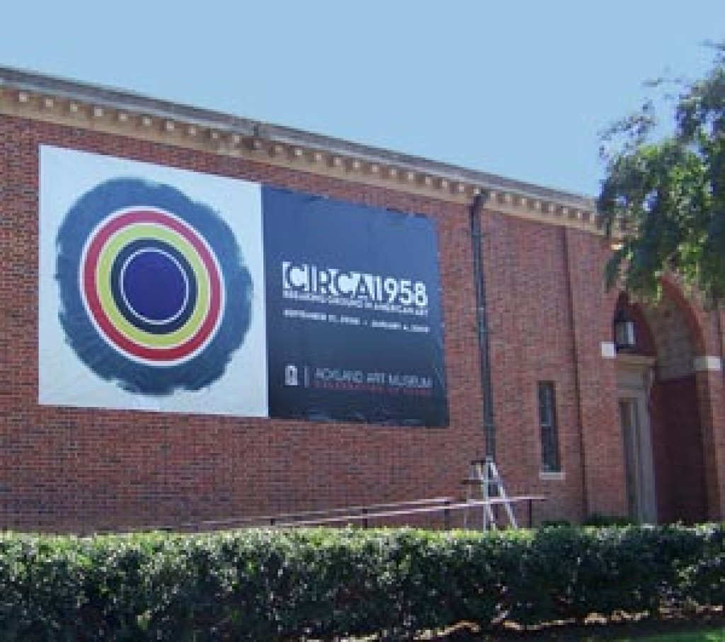ackland art banner displayed on museum building