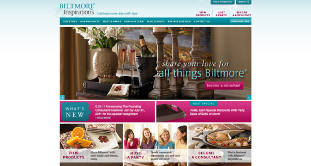 front page of biltmore website
