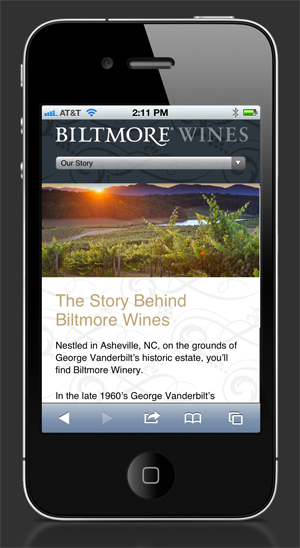 Our Story — Biltmore Wine mobile site
