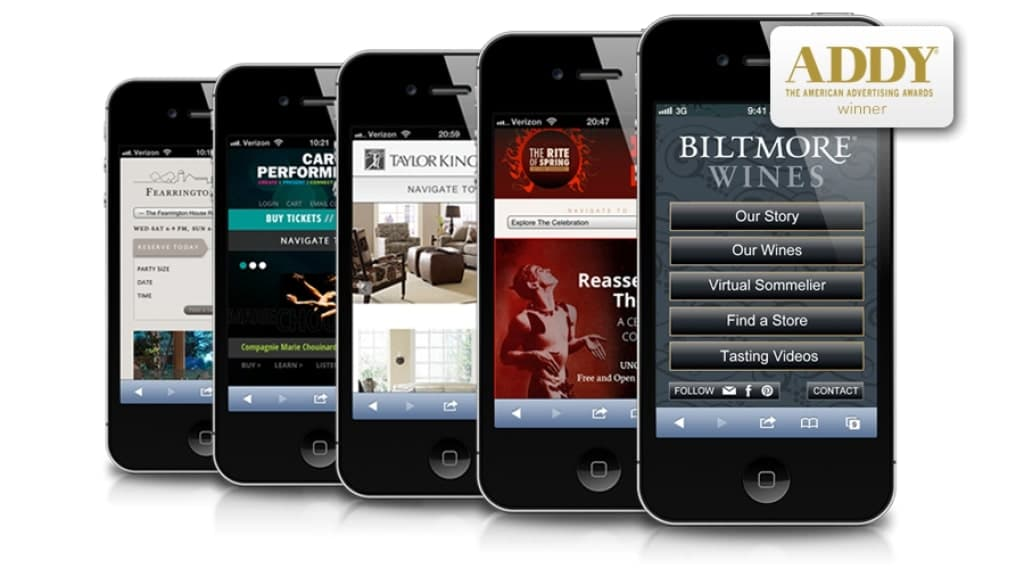 Mobile site examples