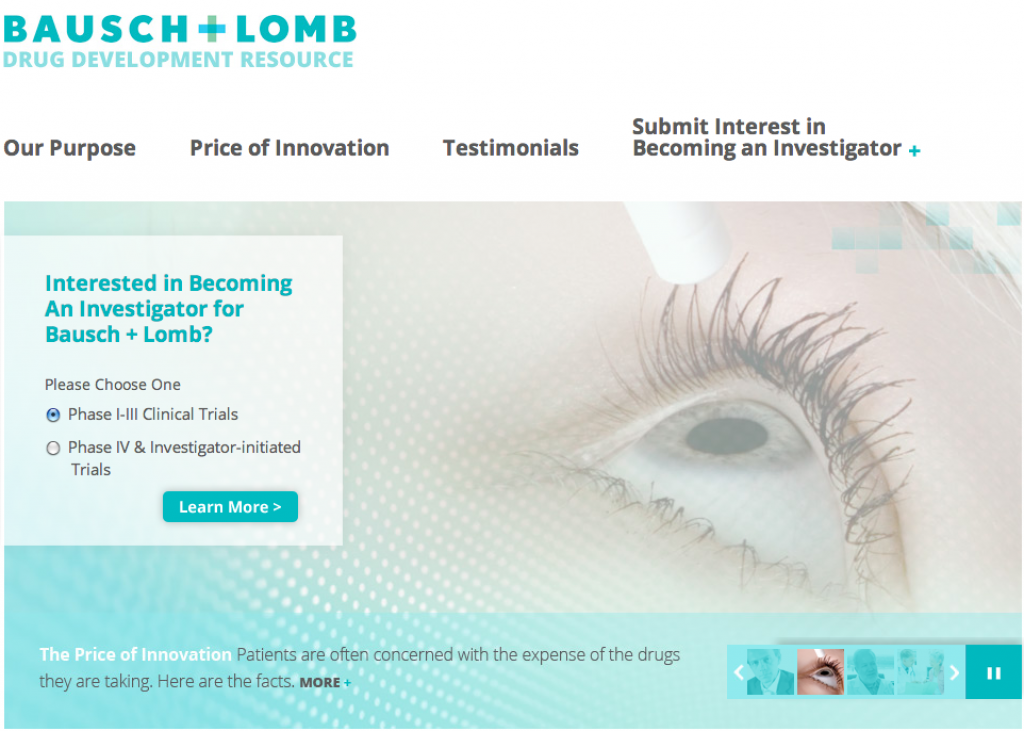 bausch and lomb website