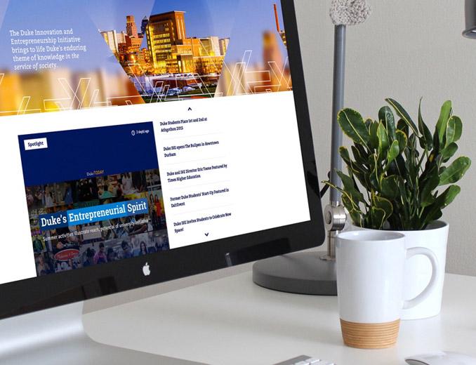 duke innovation and entrepeneurship website displayed on mac