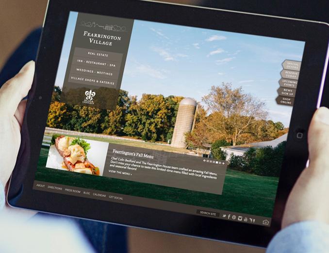 fearrington website display on ipad