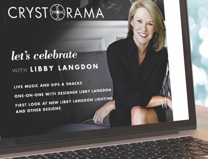 crystorama website displayed on mac