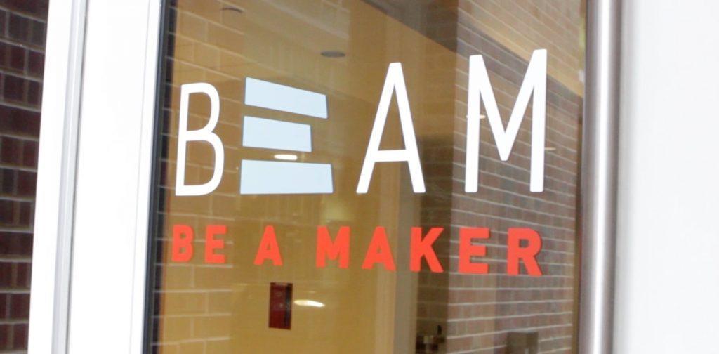 Beam Makers window branding
