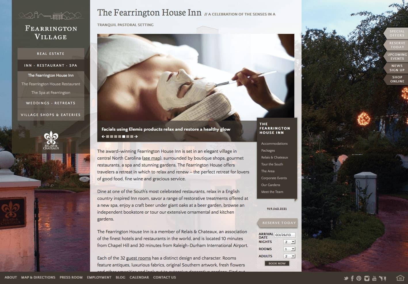 Fearrington Village's new site