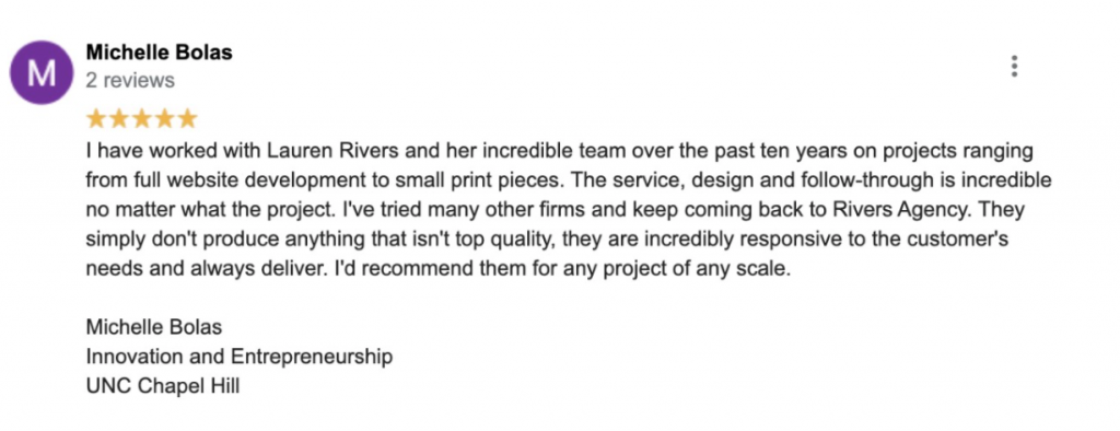 Michelle Bolas Google Review